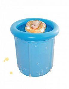 Baignoire portative simple, baignoire japonaise de douche, baignoire pliable de taille adulte en plastique flexible (Couleur : Bleu) de la marque PIPIXIA image 0 produit