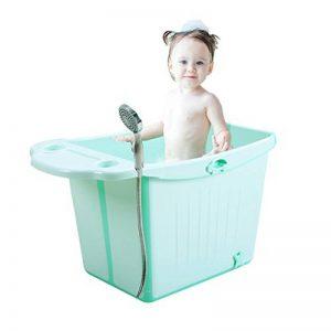 Baignoires sur pieds Bidets Baignoire Pliable pour Enfants Grande Baignoire bébé Baignoire bébé Baignoire bébé Nager Yongchi (Color : Green, Size : 84 * 49 * 47cm) de la marque Baignoires sur pieds image 0 produit