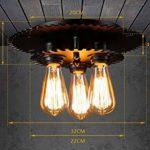 BAIJJ Éclairage créatif Plafonniers Rétro Nostalgique Aisle Escaliers Petit Balcon Restaurant Plafonniers Chambre 3 Têtes E27 Multiples Styles (Couleur: n ° 1) de la marque BAIJJ image 1 produit