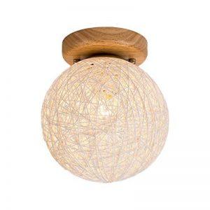 BAIJJ Hemp Ball Light Light Plafonniers, éclairage de Salon Éclairage de Plafond pour Chambre d'enfants Corridor de Balcon Allées et lanternes Simple Creative Colorful E27 * 1 Rotin Bois Massif 21 de la marque BAIJJ image 0 produit