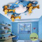 BAIJJ Plafonnier Original de LED, Lampe de Plafond de Chambre d'enfants de Lampe de Plafond de Chambre d'enfants pour Enfants Lampes décoratives de Chambre à Coucher en Bois 90 * 74CM de Multiples de la marque BAIJJ image 4 produit