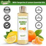 Bain Moussant| 100% Naturel 76% Biologique | Mandarine & Citron | Idéal pour Bébés, Enfants & Adultes de la marque Nannys Naturals image 3 produit