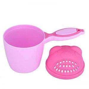 Bain Rince-tête pour Bébé Shampooing Tasse Bain de Bébé et Tout-Petit Jouets de Bain Tasse de Rinçage Protection des Yeux (Pink) de la marque Zerodis- image 0 produit