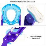 BAMNY Siège de Toilette Enfant Pliable et Réglable, Reducteur de Toilette Bébé avec Marches Larges, Lunette de Toilette Confortable Matériaux de Haute Qualité (Bleu) de la marque Bamny image 2 produit