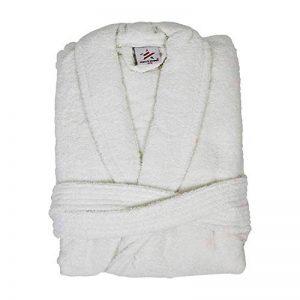 Bang Tidy Clothing Peignoirs de Bain Personnalisés pour Hommes Robes de Chambre Cadeaux avec Nom Brodés de Couleur Blanche et Taille S-M de la marque Bang-Tidy-Clothing image 0 produit