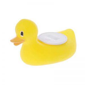 BASSK Bébé douche bain température thermomètre de bande dessinée canard jaune test imperméable à l'eau enfants jouets de bain de la marque BASSK image 0 produit
