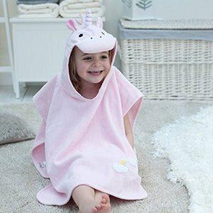 Bathing Bunnies Serviette poncho à motif de licorne pour filles âgés de 1-3ans pour la plage et le bain de la marque Bathing-Bunnies image 0 produit
