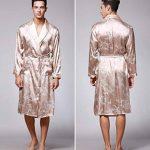 BaZhaHei Peignoir Homme Grande Taille Kimono en Satin Dragon Imprimée Vêtements Manche Longue Chemise de Nuit à Poche Hiver Confortable de la marque BaZhaHei+vtements+de+nuit image 2 produit