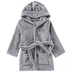 BaZhaHei Pyjama de Serviette Bambin Enfant Bébé Peignoir Solide Peignoir à Capuche en Coton Mignon 0-24 Mois Bain Vêtements Service à Domicile de la marque BaZhaHei+vtements+de+nuit image 0 produit