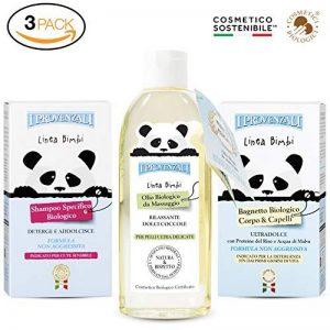 Bébé BIO Shampooing 250 ML + Savon Biologique pour le bain 250 ML+ Huile de massage Biologique 150 ML de la marque Il Provenzali image 0 produit