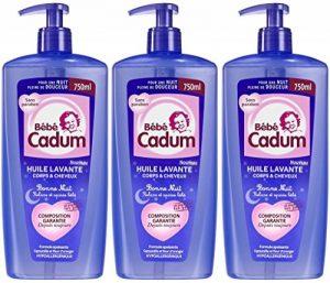 Bébé Cadum Huile Lavante Bonne Nuit Corps et Cheveux 750 ml - Lot de 3 de la marque Cadum image 0 produit