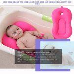 Bébé coussin d'oreiller de coussin d'air coussin flottant siège souple anti-dérapant oreiller de bain accessoires de salle de bain pour bébé nouveau-né ~ rose de la marque FRjasnyfall image 3 produit