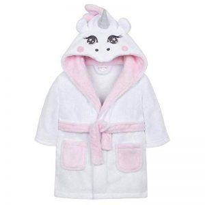 Bébé Filles Blanc Licorne à Capuche Peluche Peignoir de la marque BabyTown image 0 produit