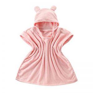Bébé Garçon/Fille Mignon Doux Peignoir en Coton Capuche Serviettes de Bain pour Bébé de la marque CampHiking image 0 produit