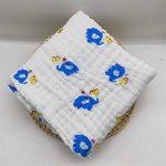 Bébé Mousseline Serviettes de Bain, Morbuy 100% Coton 6 Couches Chaud Bébé Serviettes Impression Naturel Antibactérien doux Confortable Sain Couverture (105x105cm, l'éléphant) de la marque Morbuy image 1 produit