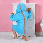 BéBé Peignoir Coton Encapuchonné Serviette Animal Dinosaure Style Filles Doux Dormeur de la marque MICHLEY image 4 produit