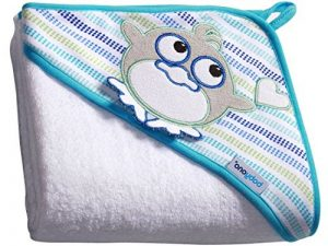 Bébé Serviette de Bain à Capuche éponge 7316/serviette capuche enfant 100 x 100 cm (blanc/Penguin) de la marque Babyono image 0 produit