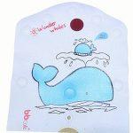 BBCare® Support de bain pour bébé unique avec tapis de bain antidérapant avec indicateur de temperature (Bleu_Baleine) de la marque BBCare image 3 produit