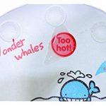 BBCare® Support de bain pour bébé unique avec tapis de bain antidérapant avec indicateur de temperature (Bleu_Baleine) de la marque BBCare image 4 produit