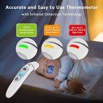 Bebe Thermometre, Medical Numerique Infrarouge Frontal et Oreille Thermometre pour Bebe, Enfant, Adulte en 1 seconde de Temps de Mesure, avec Memoire et Avertisseur de Fievre et Retro-eclaire de la marque Hkiytime image 1 produit