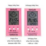 BeGrit Hygromètre Thermomètre pour Bébé Température de la pièce Humidimètre, Numérique Instantané Lecture instantanée avec Smile/Sad Emotion Icon de la marque BeGrit image 4 produit