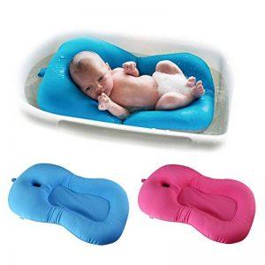 belupai Tapis de bain bébé nouveau-né pliable bébé bain baignoire coussin chaise étagère nouveau-né siège de baignoire nouveau-né coussin tapis de bain(Rose rouge) de la marque Belupai image 0 produit