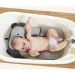 belupai Tapis de bain bébé nouveau-né pliable bébé bain baignoire coussin chaise étagère nouveau-né siège de baignoire nouveau-né coussin tapis de bain(Singe gris) de la marque Belupai image 2 produit