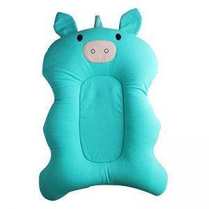belupai Tapis de bain bébé nouveau-né pliable bébé bain baignoire coussin chaise étagère nouveau-né siège de baignoire nouveau-né coussin tapis de bain(vert) de la marque Belupai image 0 produit