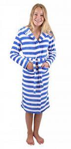 BETZ Peignoir d'intérieur à Capuche pour Enfant - Kids Comfort -rayé ou uni dans Les Couleurs: Bleu et Pink Taille 128 - Bleu rayé de la marque BETZ image 0 produit