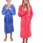 BETZ Peignoir d'intérieur à Capuche pour Enfant - Kids Comfort -rayé ou uni dans Les Couleurs: Bleu et Pink Taille 128 - Bleu rayé de la marque BETZ image 1 produit