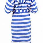 BETZ Peignoir d'intérieur à Capuche pour Enfant - Kids Comfort -rayé ou uni dans Les Couleurs: Bleu et Pink Taille 128 - Bleu rayé de la marque BETZ image 3 produit