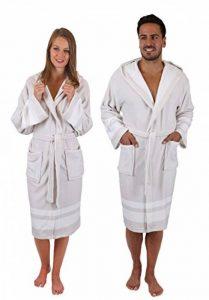 BETZ Peignoir de Bain Malte en Microfibre Robe de Chambre pour Femme et Homme avec Capuche de Coloris Beige-Blanc Taille S/M de la marque BETZ image 0 produit