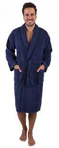 BETZ Peignoir de Bain/Peignoir d'intérieur en Tissu éponge avec col châle pour Homme et Femme 100% Coton Athen Tailles S-XXL Size L - Bleu Marine de la marque BETZ image 0 produit