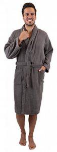 BETZ Peignoir de Bain/Peignoir d'intérieur en Tissu éponge avec col châle pour Homme et Femme 100% Coton Athen Tailles S-XXL Size XXL - Anthracite de la marque BETZ image 0 produit
