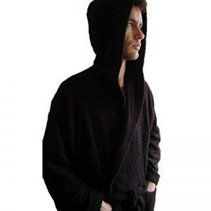 BgEurope personnalisé Monogramme à Capuche Coton Peignoir de Bain en Tissu éponge Noir, 100% Coton, Noir, Taille M de la marque BgEurope image 0 produit
