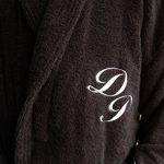 BgEurope personnalisé Monogramme col châle Coton éponge Peignoir de Bain Noir, 100% Coton, Noir, Taille M de la marque BgEurope image 1 produit