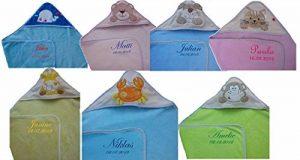Bibos Serviette à capuchon pour bébés avec prénom brodé de la marque Bibos image 0 produit