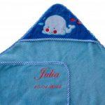 Bibos Serviette à capuchon pour bébés avec prénom brodé de la marque Bibos image 4 produit