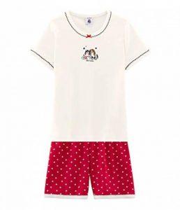 Bilvie Ensemble de Pyjama, Multicolore (Terkuit/Marshmallow 01), 8 Ans (Taille Fabricant: 8A) Fille de la marque Petit-Bateau image 0 produit