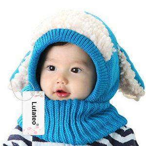 Bonnet Bébé, Bonnet Echarpe Set, Bonnet Hiver pour Bébé, Bébé Unisex Bonnet Chapeau Tricoté, Chapeaux tricoté écharpe Set pour bébé Enfants Filles Garçons de la marque Lutateo image 0 produit