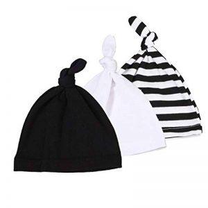 Bonnet Bebe Naissance 3 Pack Nouveau-né Beanie Chapeau Réglable Coton Casquettes pour 0-24 Mois de la marque Gyratedream image 0 produit