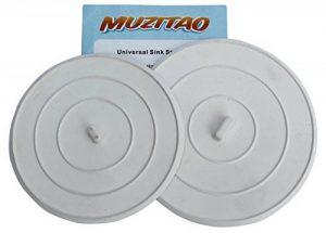 Bouchon d'évier en caoutchouc (Pack de 2) – Bouchon de baignoire & évier de cuisine – Le bouchon universel multi-usages par Muzitao de la marque Muzitao image 0 produit