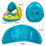 Bouée Siège Gonflable Piscine Anneau De Natation Enfant Bébés Baignoire PVC Matériel Sécurité avec Pompe de la marque Reinefleur image 1 produit