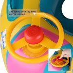 Bouée Siège Gonflable Piscine Anneau De Natation Enfant Bébés Baignoire PVC Matériel Sécurité avec Pompe de la marque Reinefleur image 3 produit