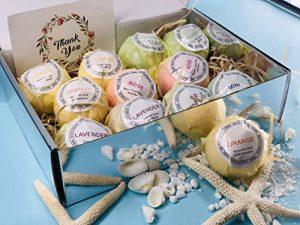 Boules de bain 12pcs coffret cadeau de bain moussant organique naturel, riche en bain moussant aux huiles essentielles, hydrate la peau sèche, donne des cadeaux aux femmes de la marque TTRWIN image 0 produit