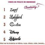 broderie peignoir TOP 2 image 1 produit