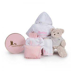 Canastilla Peignoir Bébé mon bordado- Panier pour bébés avec peignoir personnalisé avec le nom du bebé- cadeau de naissance idéal de la marque BebeDeParis image 0 produit
