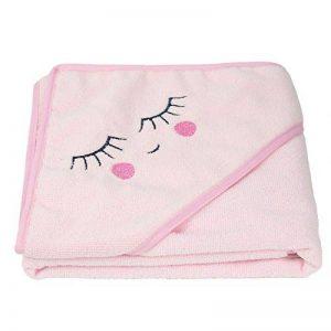 Cape de bain bébé serviette de bain bébé sortie de bain bébé 105 x 105cm Numelya (Rose) de la marque Numelya image 0 produit