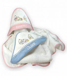 Cape de bain petits canards personnalisé prénom (ciel) de la marque Vanevitch image 0 produit