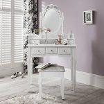 CAPRI AGTC0010 Chaise pour coiffeuse Blanc &Meuble Miroir de chambre à coucher de la marque Laura-James image 2 produit